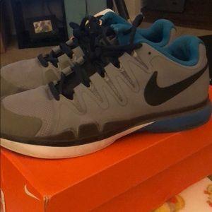 Nike Shoes - Blue Nikes men's 9.5 in great shape!!
